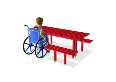 Cambridge Picnic Table with Wheelchair Access