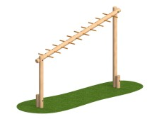 Sloping Monkey Bar Log