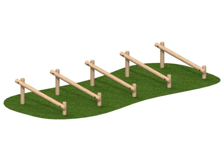 Slopingstridejumps(setof5)