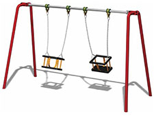 2 Seat Cradle Swing
