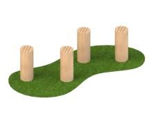 150mm Stepping Logs